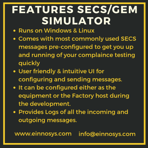 Features SECS GEM Simulator