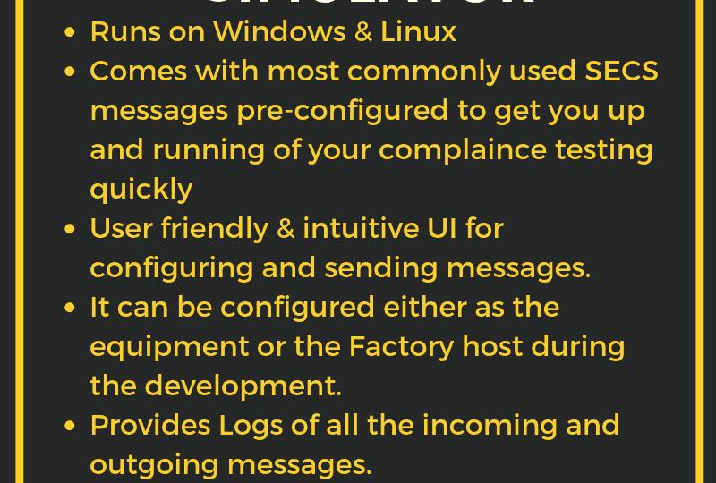 Features SECS GEM Simulator