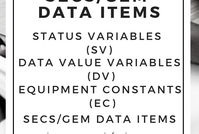 SECSGEM Data Items